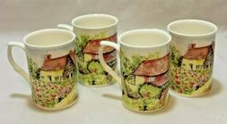 Rose Of England Fine Bone China Coffee Mugs English Countrys