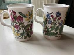 Duchess Fine Bone China Cup/Mug Pair- Flowers
