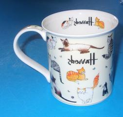 Harrods Fine Bone China KITTY CATS Tea/Coffee Mug Made In En
