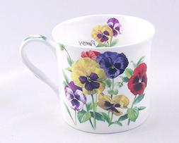 Fine Bone China Mug - Brilliant Pansy Chintz Fine English Bo