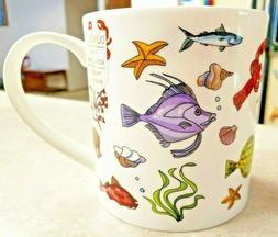Dunoon Fine Bone China Mug Fish Ahoy! Emma Joustra Imported