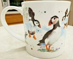 Dunoon Fine Bone China Mug Scenic Puffins Orkney Shape Kate