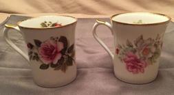 Regal Heritage*Fine Bone China Mugs*Cups*Roses*England*lot o