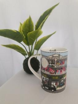 Harrods Fine Bone China Tall Coffee Cup Mug England