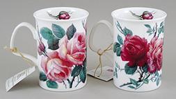 Fine English Bone China - Roy Kirkham English Rose Mug Set o