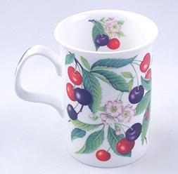Fine English Bone China Mug - Sweet Cherry Chintz - England