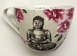 Portobello by Inspire Floral Buddha Peace Mug   Bone China  