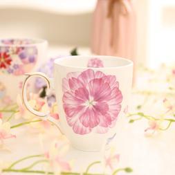 Floral <font><b>Mug</b></font> Pink Flower Coffee <font><b>M
