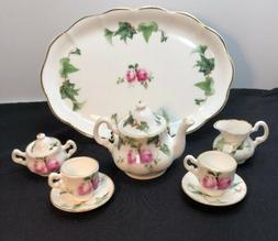 Florence Collectables Fine Bone China Roses & Ivy Mini tea s