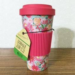 Flower Travel Bamboo Eco Mug 20oz Hot Cold Thermal Coffee Cu