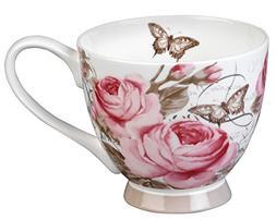 Portobello Footed Roseraie Sandringham Fine Bone China Mug,