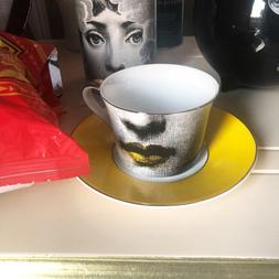 Fornasetti Tea Cup Nordic vintage <font><b>Bone</b></font> <