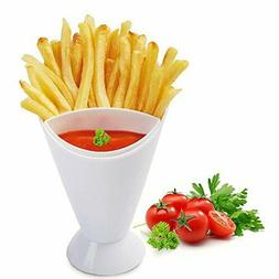 French Fry Cone Dipping Cups White Fries and Veggies Dip Cup