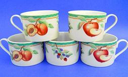 Sakura Fruitasia Coffee Mug Set of 5 1995 Sue Zipkin Porcela