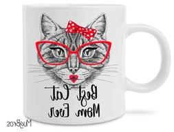 Funny Best Cat Mom Ever Cute Cat Lovers Coffee Mug Novelty G