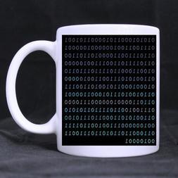 Funny Binary Code White Ceramic Coffee Mugs Cup - 11oz sizes
