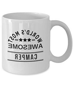 funny camper coffee mug gift