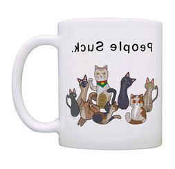 Funny Cat Gifts for Men & Women People Suck Cat Lady Gifts C