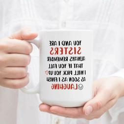 Funny Coffee Mug Birthday Gift for Sister Dishwasher and Mic