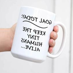 Funny Coffee Mug Goal Today Kids Novelty Cup Great Gift Idea