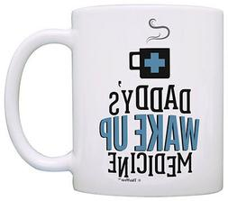 Funny Coffee Mugs for Men Daddy's Wake Up Medicine Coffee Co