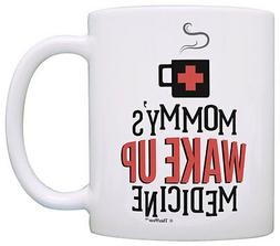 Funny Coffee Mugs for Men Mommy's Wake Up Medicine Coffee Co