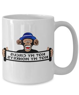 Funny Coworker Monkey Circus Mug- Coffee Cup Corporate Humor