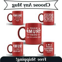 Funny Donald Trump Ceramic Coffee Mug MAGA Re-Elect Trump Pe