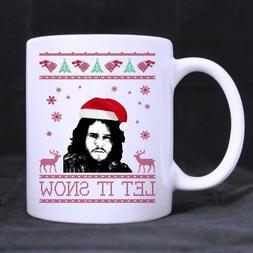 Funny Gift - Funny Christmas Mug - Let it Snow Jon John Snow