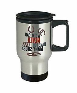 Funny Horse Travel Mug Stainless Steel Horse Lovers Gift For