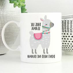 Funny Llama Mug Llama Coffee Mug Llama Lover Gift No Drama M
