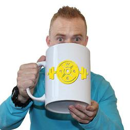 Funny Mugs - SWPS Yellow Logo Weight Plate and Bar - Gym Wor