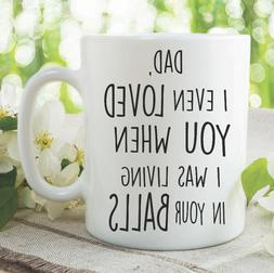 Funny Novelty Mugs Coffee Cup Dad Mug Fathers Day Gift Birth