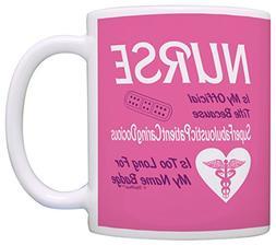Funny Nurse Gift Official Title Too Long Nursing Gag Gift Co