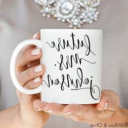 Future Mrs Mug - Personalized Engagement Mug - Custom Cerami