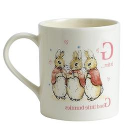 Beatrix Potter Letter G - Good Little Bunnies Porcelain Mug