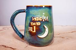 Moon of My Life Handmade Coffee Pottery Mug