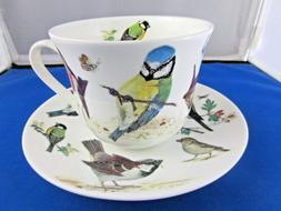 GARDEN BIRDS BREAKFAST CUP SAUCER, ROY KIRKHAM. fine bone ch