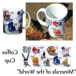 GEMSTONE Coffee mug cup crystals minerals tourmaline fluorit