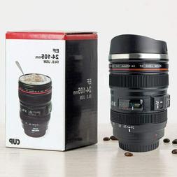 Camera Lens Coffee Mug Photography Design Stainless Steel Tr