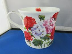 GERANIUM FINE BONE CHINA 10 oz mug from HEATH McCABE FREE SH