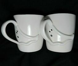 STARBUCKS Ghost Halloween Ceramic Coffee Mug 16 oz 2003 Matc