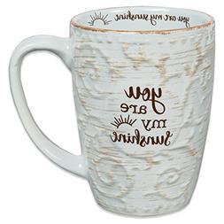 You Are My Sunshine Script Design White 15 Ounce Ceramic Coffee Mug Kitchen Dining Dining Entertaining