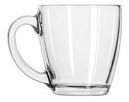 Glass Coffee Cup Mug Clear Set Ware Libbey Tea Water Box Of