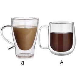 Glass Coffee Mug Handgrip Kitchen Water Tea Cup Drinkware Do