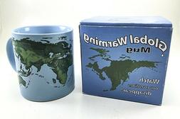 GLOBAL WARMING MUG POUR IN HOT BEVERAGE COASTLINE DISAPEARS