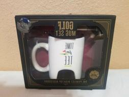 Golf Mug Set Tea Coffee Drink Cup Tee Time Pen Ball Play Fun