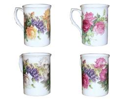 Gracie Bone China Classic English Garden Rose 10-Ounce Mug w