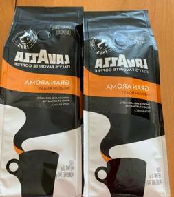 Lavazza Gran Aroma Medium Roast Ground Coffee Lot Of 2 - 12o