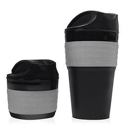 Gray, Collapsible Travel Cup, Mug Silicone Travel Mug, BPA F